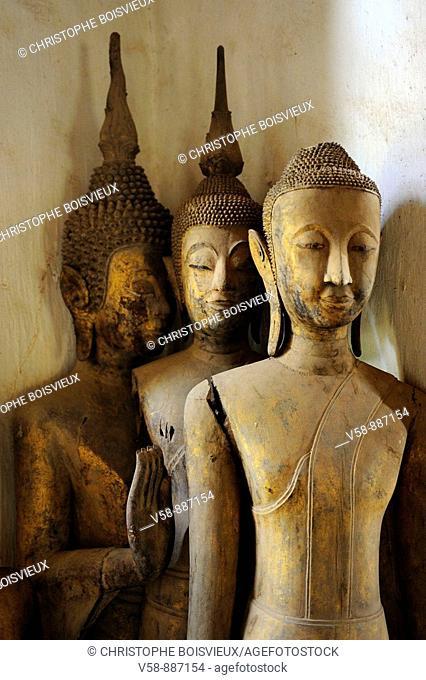 Buddha statues, temple of Vat Visun, Luang Prabang, Laos