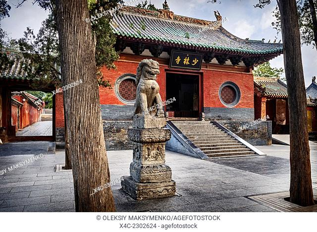 Shaolin Temple Monastery entrance in DengFeng, Zhengzhou, Henan Province, China 2014
