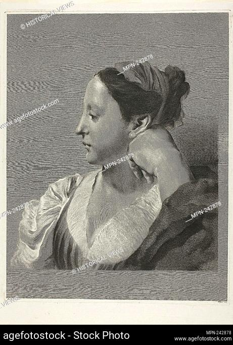 A Young Woman in Profile - 1750/59 - Marco Alvise Pitteri (Italian, 1702-1786) after Giovanni Battista Piazzetta (Italian