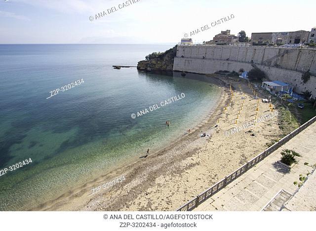 Beach in Castellammare del Golfo in Trapani province Sicily, Italy