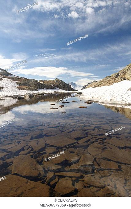 Stelvio National Park, Lombardy, Italy, Pietrarossa lake