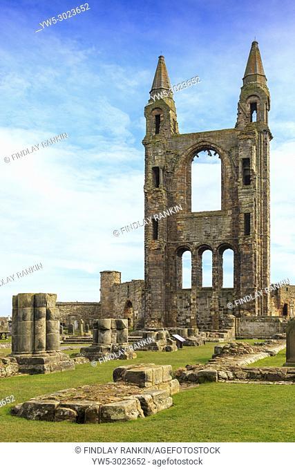 St Andrews Abbey, St Andrews, Fife, Scotland, UK