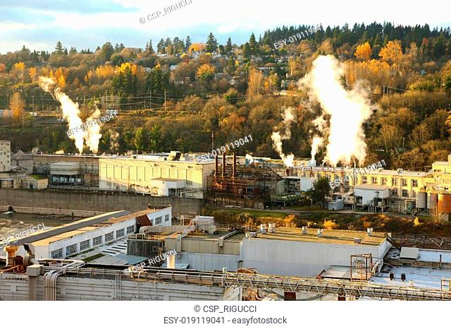 Old papermill in Oregon city, OR