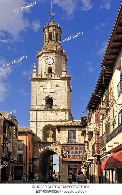 church and main square in Toro, Zamora province, Castilla y Leon, Spain
