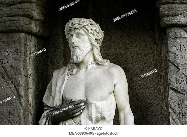 grave yard, grave, statue, male, Jesus