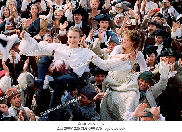 RELEASED: Sep 3, 2005 - Original Film Title: Casanova. PICTURED: HEATH LEDGER stars as Lord Jacomo Casanova and SIENNA MILLER as Francesca Bruni