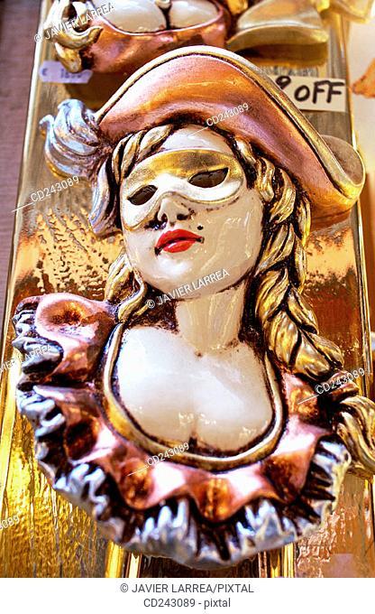 Carnival masks in St. Mark's Square. Venice. Veneto, Italy