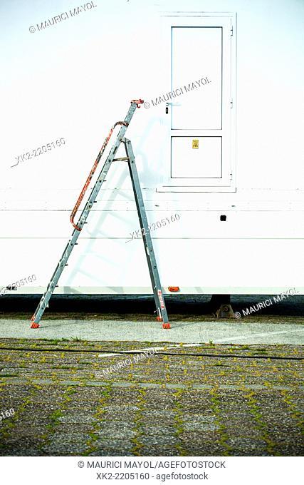 Ladder and exit door