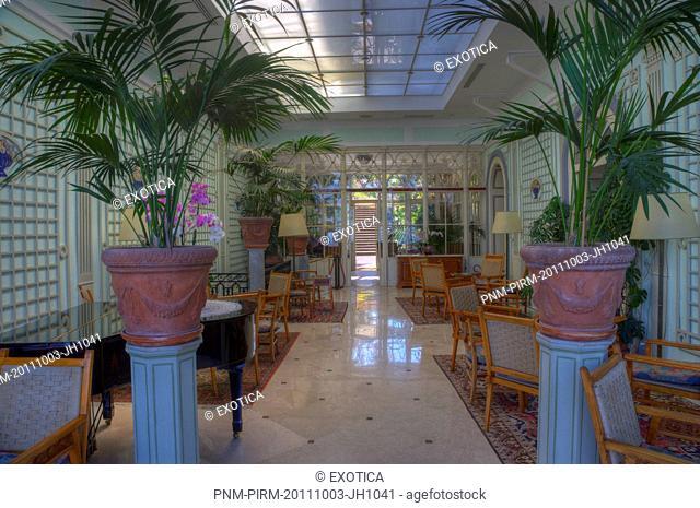 Interiors of a hotel, Sorrento, Campania, Italy