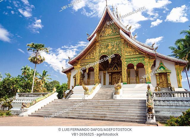 Haw Pha Bang Buddhist Temple at Haw Kham (Royal Palace) complex in Luang Prabang, Laos
