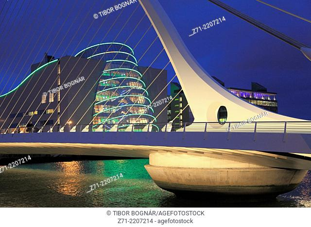 Ireland, Dublin, National Convention Centre, River Liffey, Macken Street Bridge,