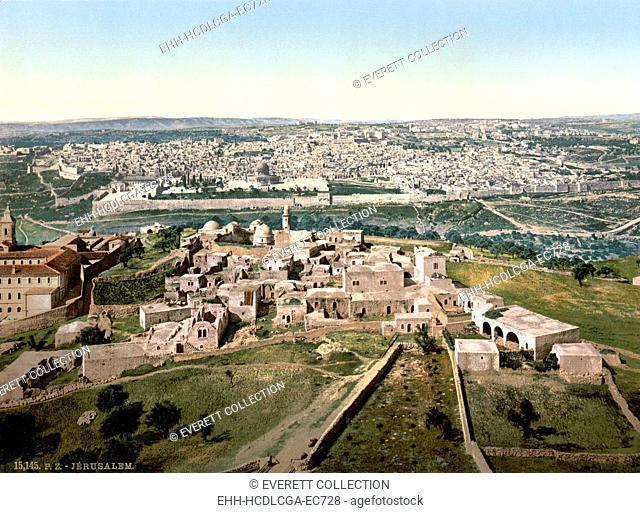 Jerusalem, Holy Land, photochrom, circa 1890-1900
