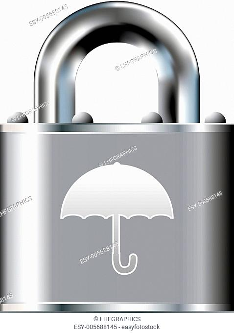 Umbrella security icon