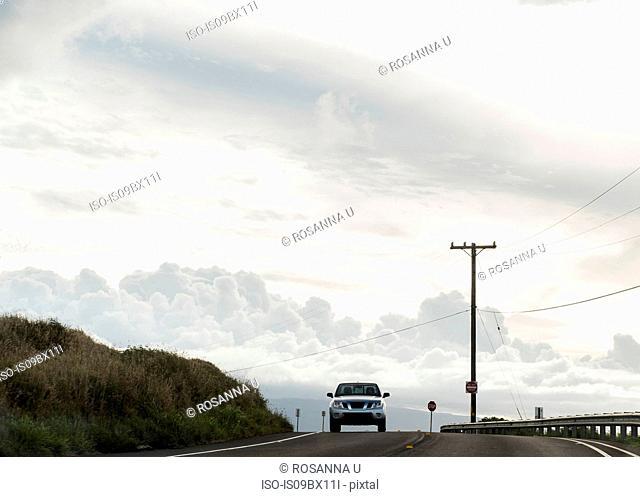 Four wheel drive on road to Hana, Maui, Hawaii