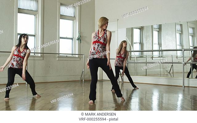 dancers in a dance studio