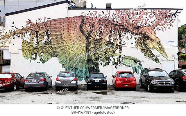 Wall painting at the Boulevard Saint Laurent, Montreal, Quebec Province, Canada