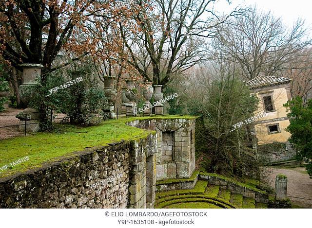 The Leaning House, Parco dei Mostri monumental complex, Bomarzo, Viterbo, Lazio, Italy