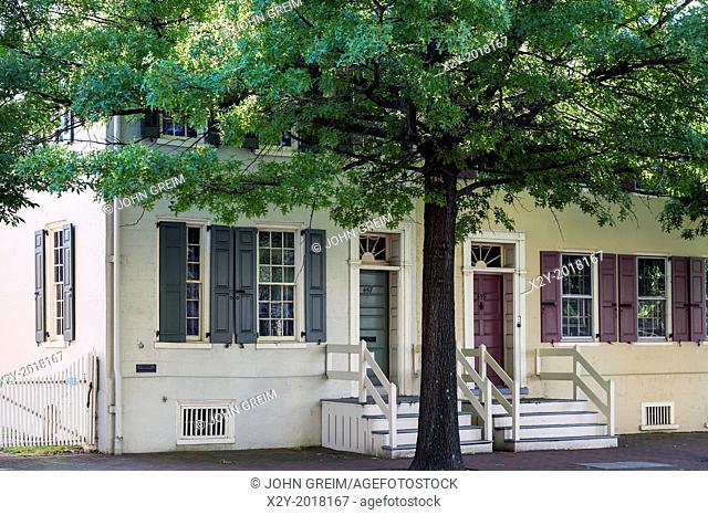 Bith place house of American novilist and writer James Fenimore Cooper, Burlington, New Jersey, USA