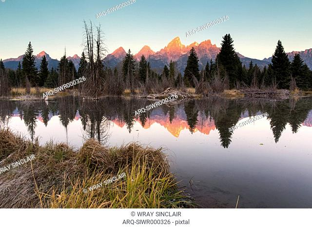 Scenic View Of A Grand Teton National Park In Wyoming\, Usa