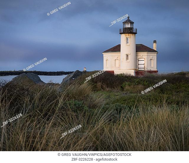 Coquille River Lighthouse, Bullards Beach State Park, Bandon, southern Oregon coast