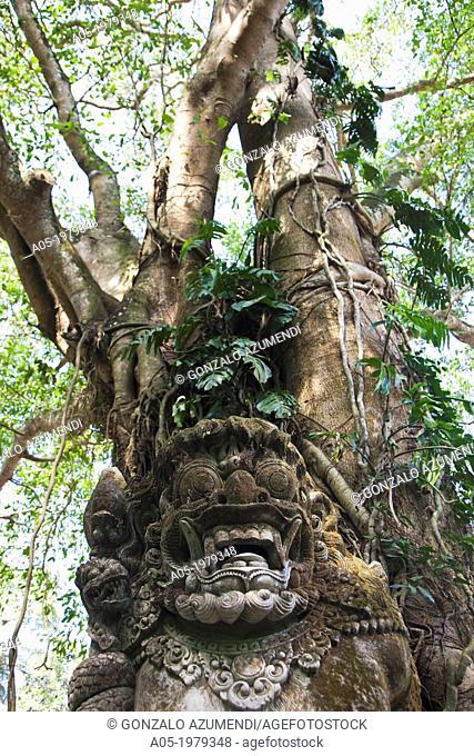 Pura Dalem Agung Temple. Monkey Forest, Ubud, Bali, Indonesia