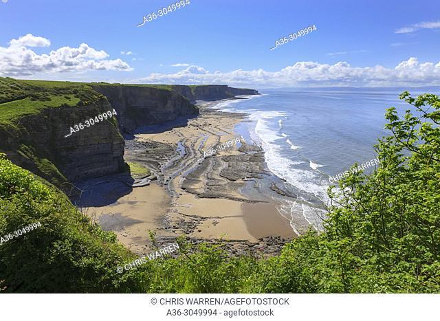 Dunraven Bay Southerndown Mid Glamorgan (Glamorgan Heritage Coast) Wales