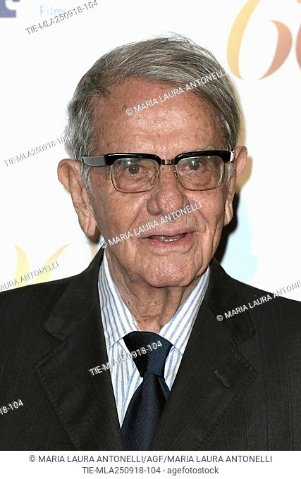 Producer Enrico Lucherini during red carpet of 60/90 party, for 60 years of career and ninetieth birthday of Fulvio Lucisano, Italian Film Producer