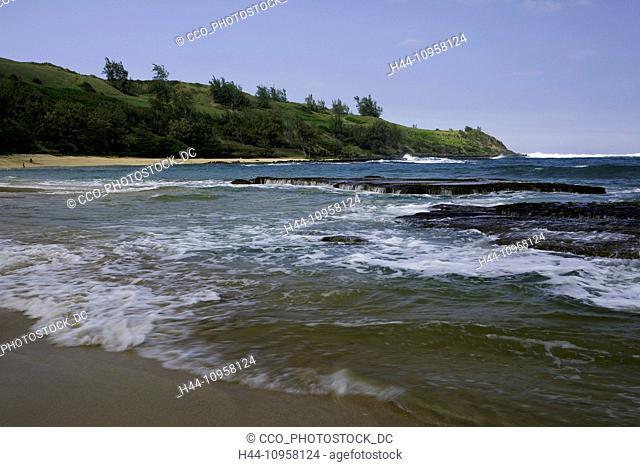 Maloa'a Beach on the island of Kauai, Hawaii. USA
