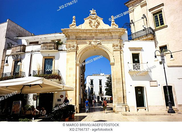 The gate to the historical quarter of Martina Franca. Martina Franca is a municipality in the province of Taranto, Apulia (Puglia), Italy
