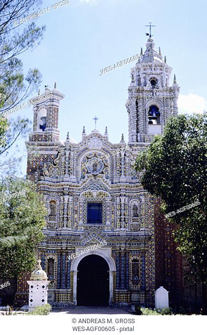 Mexico, Puebla, church in Acatepc