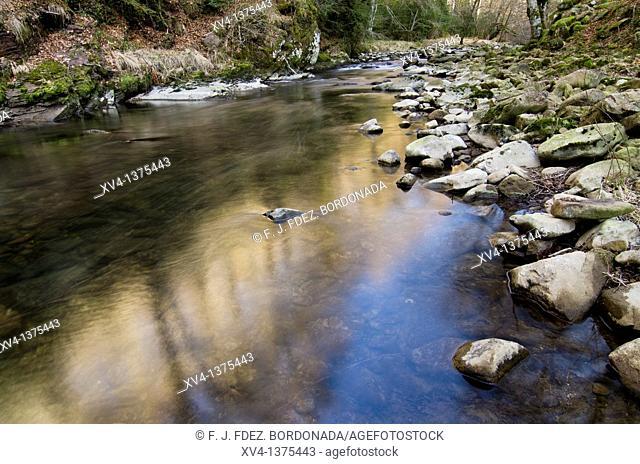 Urrobi river in Arce Valley, Navarre, Spain