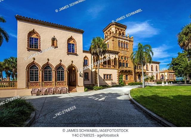 House of John and Mable Ringling an opulent mansion in the Mediterranean Revival style in Sarasota Florida