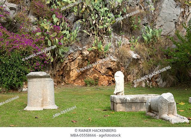 Turkey, province of Mugla, Marmaris, archaeological park 'Iyilik Kayaligi' in Neustadt