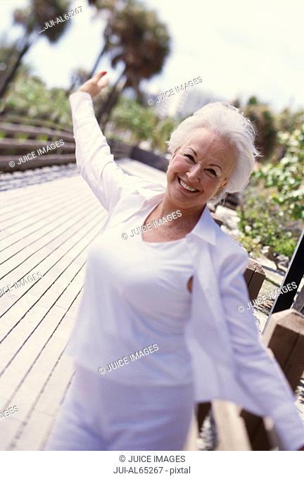 Senior woman in Miami, Florida, USA