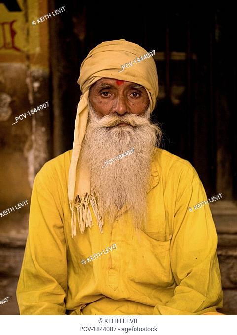 Varanasi,India,Old Hindu man