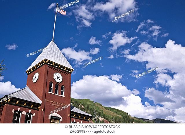 San Miguel County Courthouse, Telluride, Colorado USA