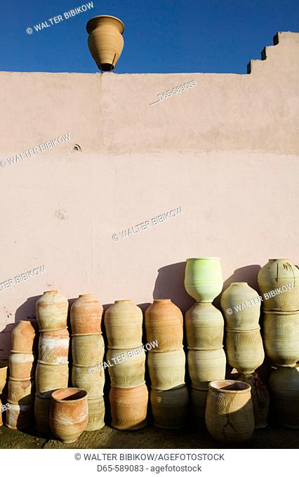 Morocco-Sale (town across from Rabat): Complexe des Poitiers / Pottery Cooperative-Pottery