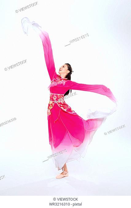 Women in the Mongolian costumes