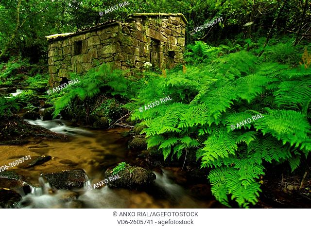 Spain. Galicia. Pontevedra. Rias Baixas. Mill in Meis