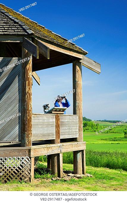Observation shelter, Baskett Slough National Wildlife Refuge, Oregon