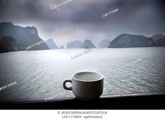 Cup in Halong Bay, Vietnam