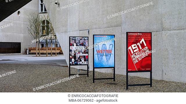 Exhibition posters of the state museum of Zurich