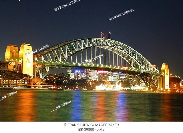 Harbour Bridge by night sydney australia