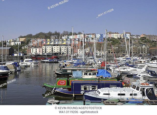 Bristol harbour, the Marina England UK