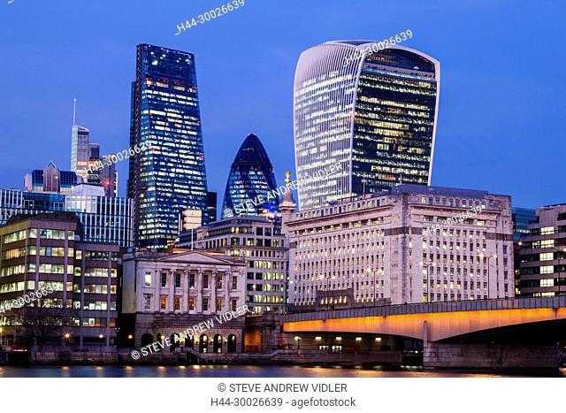 England, London, City of London Skyline
