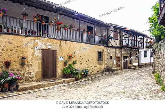 Arquitectura tradicional. San Martín del Castañar. Sierra de Francia. Salamanca. Castilla León. España