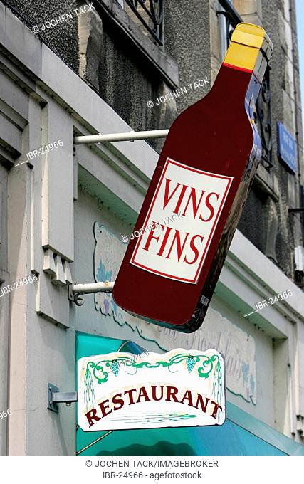 FRA, France, Normandy: Sign of a crepes restaurant