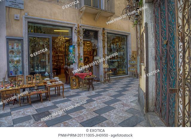 Souvenir shop on the street, Taormina, Sicily, Italy