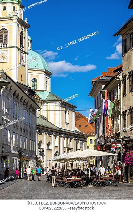 Ljubljana cityscape. European Green Capital 2016, Slovenia