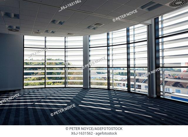 inside view of the solar louvres on the Eastpoint Centre, Southampton